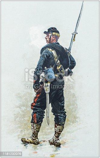 Antique illustration: Soldier