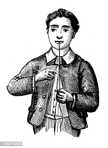 Antique illustration: Sounding-string