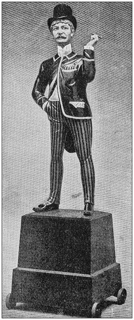 Antique Illustration: Statue figurine idol toy
