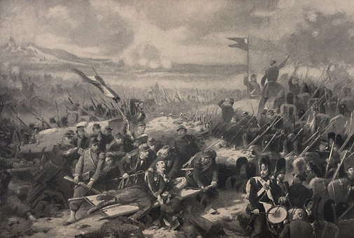 Antique illustration - The Wounding of General Bosquet