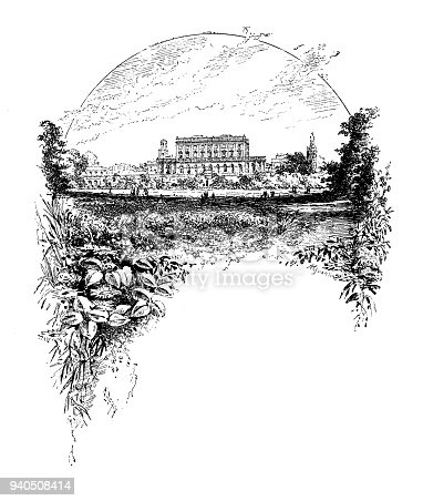 Antique illustrations of England, Scotland and Ireland: Cliveden Castle