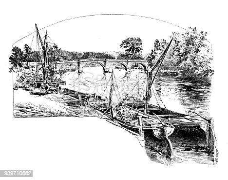 Antique illustrations of England, Scotland and Ireland: Richmond Bridge