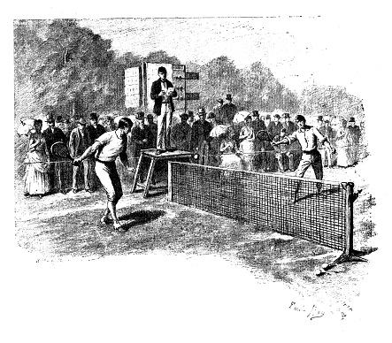 Antique illustrations of England, Scotland and Ireland: Tennis