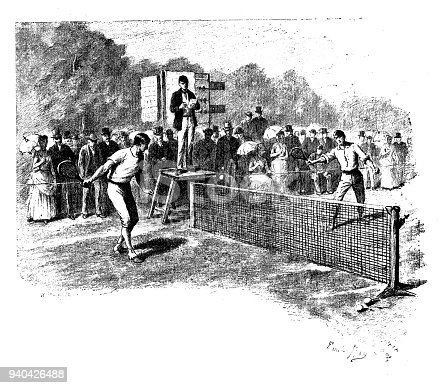 Antique illustrations of England, Scotland and Ireland: Tennis