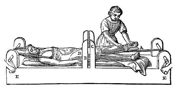 Antique injury cure vector art illustration