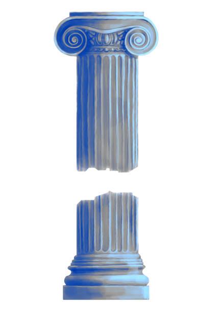 Antique Ionic Order Column vector art illustration