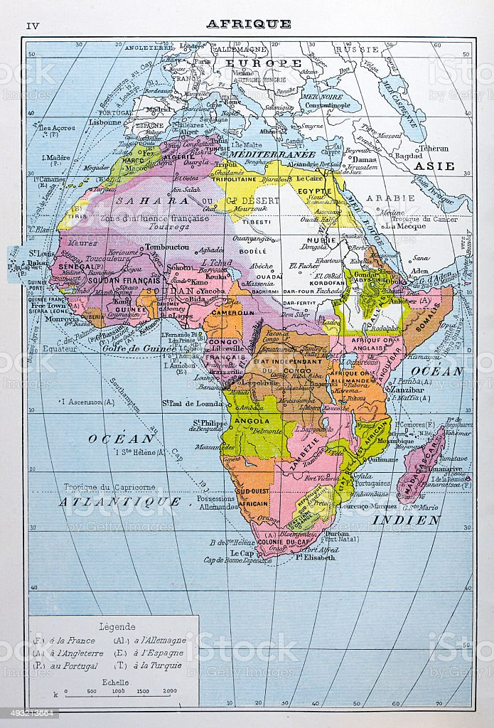 Map Of Africa French.Antique Map Of Africa Stock Illustration Download Image Now Istock