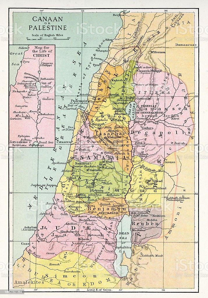 Cartina Geografica Palestina.Antica Mappa Di Cana O Palestina Immagini Vettoriali Stock