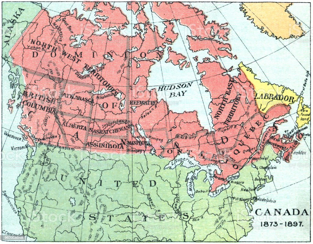 Map Of Canada Download.Antique Map Of Canada 19th Century Stock Illustration Download
