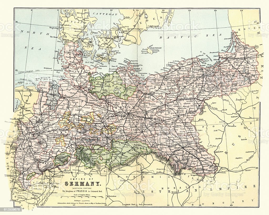 Map Of Germany For Sale.Antique Map Of Map Of Germany 1880 Stock Illustration Download