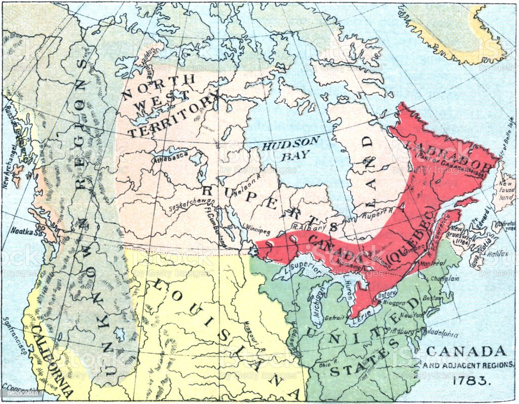 Antique Map Of North America After The Treaty Of Paris 18th Century