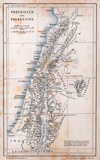 ilustrações, clipart, desenhos animados e ícones de antigo mapa da palestina e fenícia - mapa do oriente médio