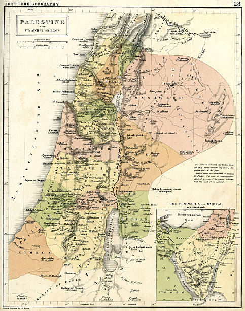 ilustrações, clipart, desenhos animados e ícones de mapa antigo da palestina - mapa do oriente médio