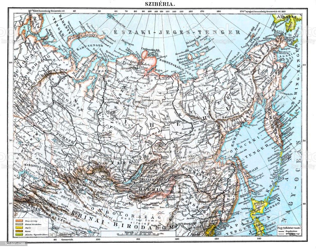 Antique Map Of Siberia Stock Illustration - Download Image ... on scandinavia map, russian language, volga river map, aral sea map, europe map, silk road map, kamchatka peninsula, gobi map, korea map, grigori rasputin, usa map, lake baikal, ural mountains map, volga river, arabian peninsula map, barents sea map, asia map, saint petersburg, sea of japan map, tunguska event, beringia map, andes mountains map, china map, russia map, russian empire, istanbul map, central asia, ural mountains,