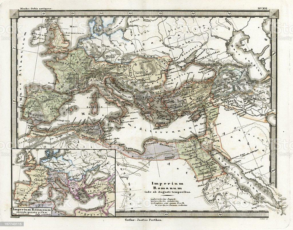 Cartina Antica Roma.Antica Mappa Di Impero Romano Immagini Vettoriali Stock E Altre Immagini Di Antica Roma Istock