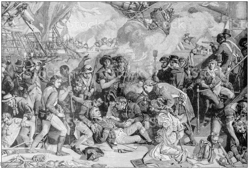Antique Illustration Peinture Mort De Lamiral Nelson Bataille De Trafalgar Vecteurs Libres De Droits Et Plus D Images Vectorielles De Adulte Istock