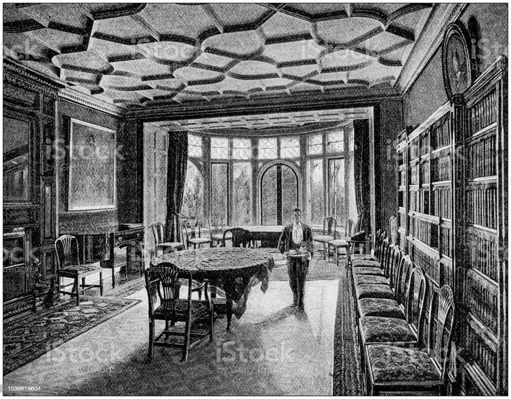 Ilustración de Antigua Ilustración De Pintura Salón Comedor Malwood ...