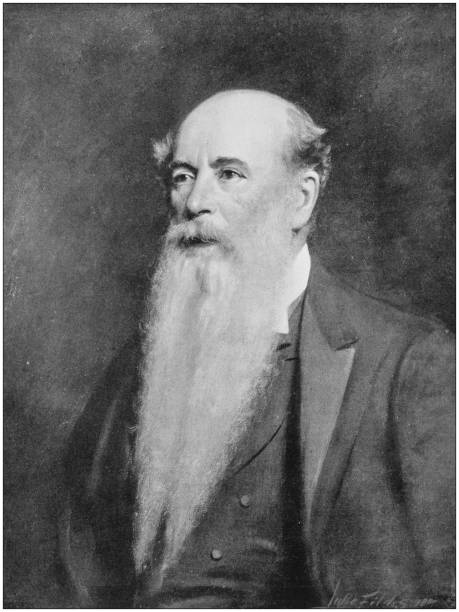 antique photo of paintings: man - old man pic pictures stock illustrations, clip art, cartoons, & icons
