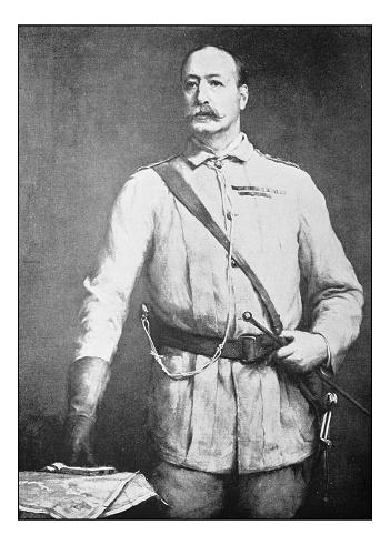 Foto antigua de cuadros: retrato de hombre