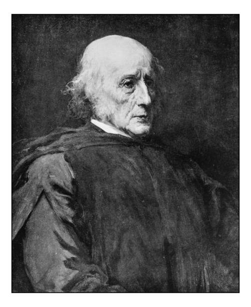 antique photo of paintings: old man portrait - old man portrait pic stock illustrations, clip art, cartoons, & icons