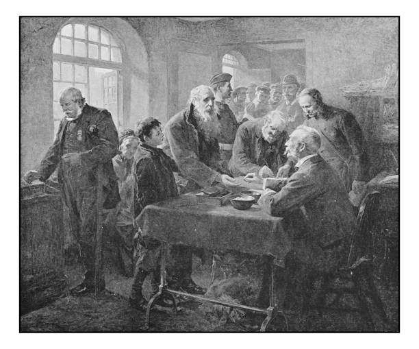 antique photo of paintings: old pension day - old man illustration pictures stock illustrations, clip art, cartoons, & icons