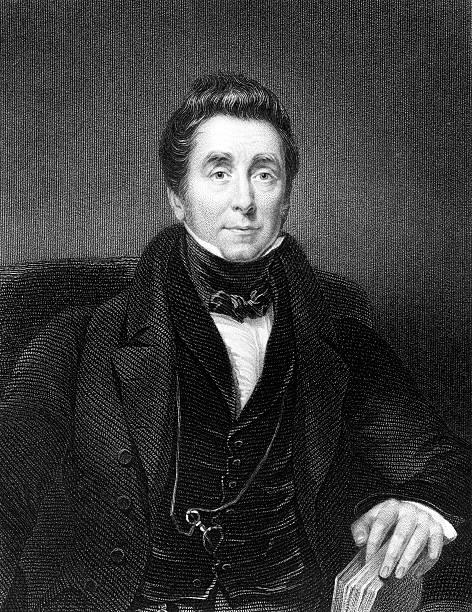 Antique Portrait of James Johnson, English Physician  jimmie johnson stock illustrations