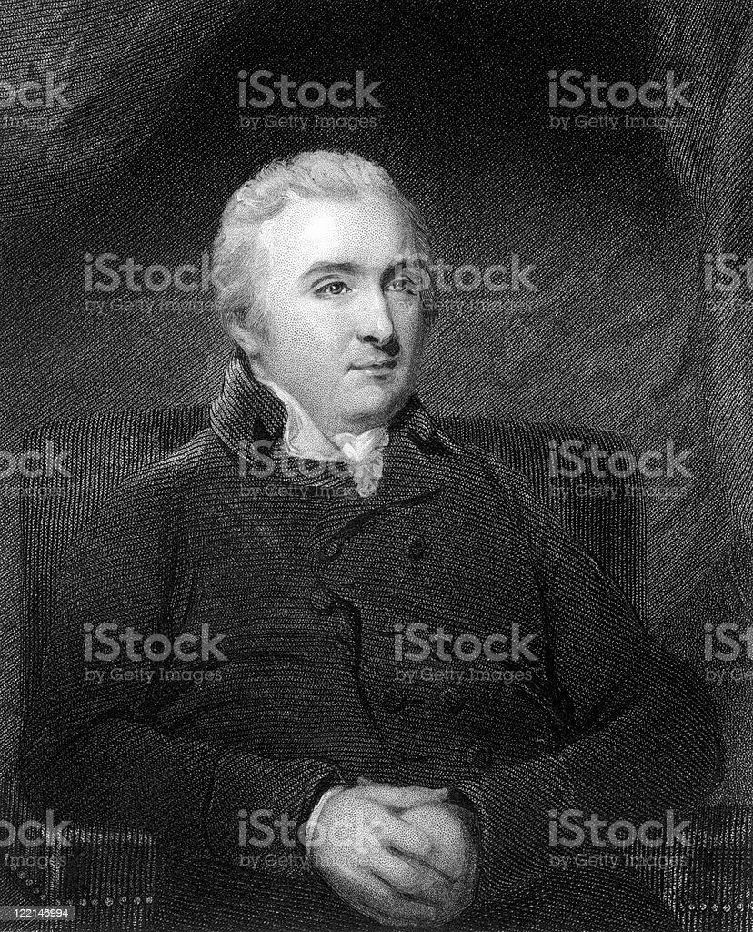 Antique Portrait of Matthew Baillie, Scottish Physician royalty-free stock vector art