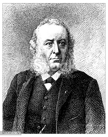 Antique scientific engraving illustration: Doctor Verneuil