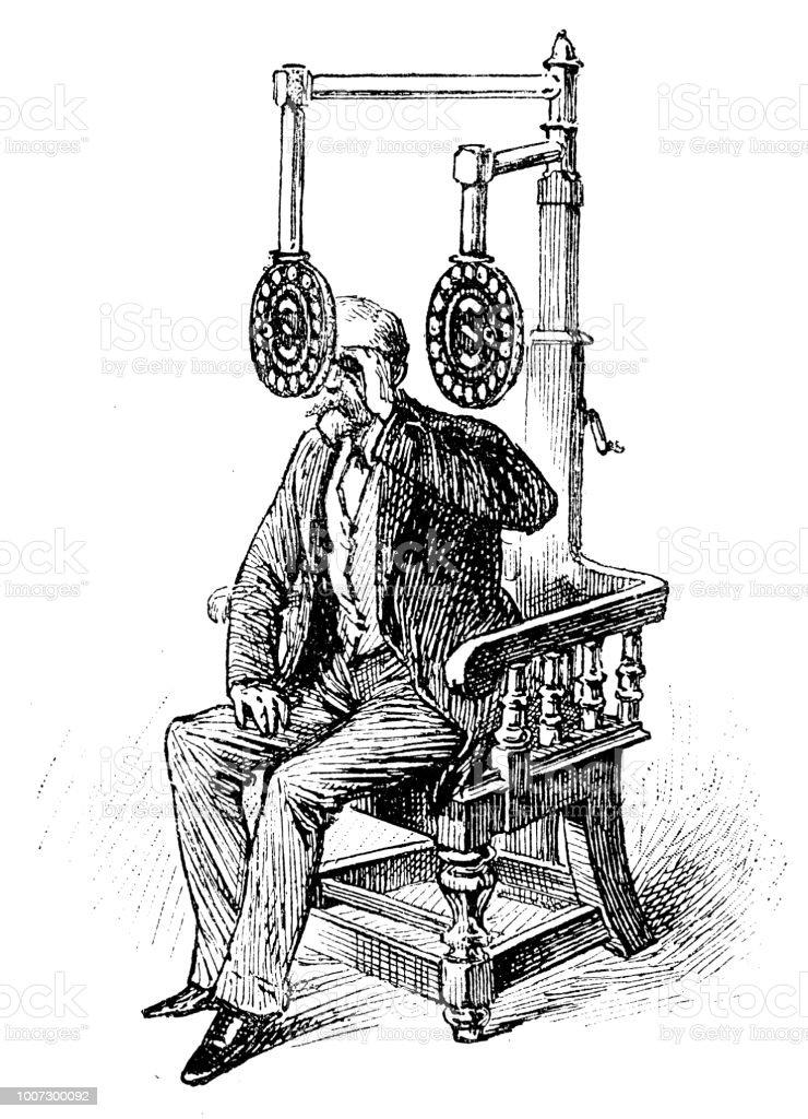 Antique illustration scientifique gravure: opticien - Illustration vectorielle