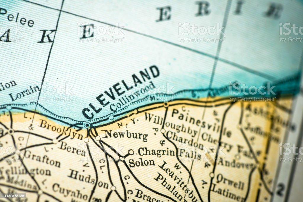 Cleveland Map Usa on