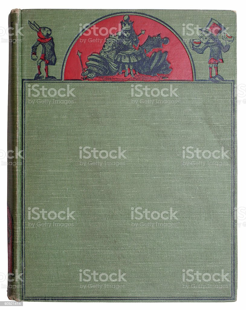 Antique Victorian green book cover royalty-free stock vector art