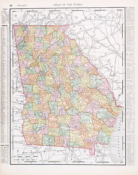 State Of Georgia Clip Art Vector Images Illustrations IStock - Map of georgia usa