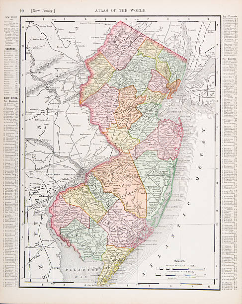 New Jersey Map Clip Art Vector Images Illustrations IStock - Usa map new jersey
