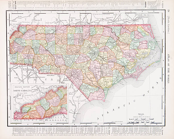 North Carolina Map Clip Art Vector Images Illustrations IStock - North carolina usa map