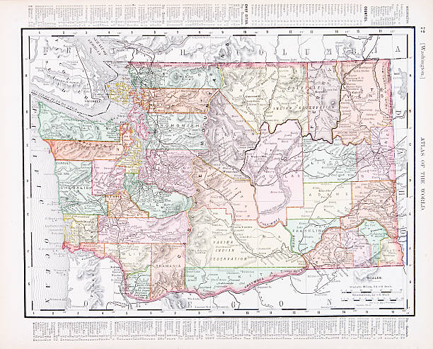 Washington State Map Clip Art Vector Images Illustrations IStock - Usa map washington state