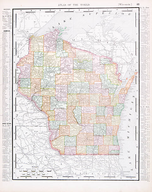 Wisconsin Map Clip Art Vector Images Illustrations IStock - Usa map wisconsin