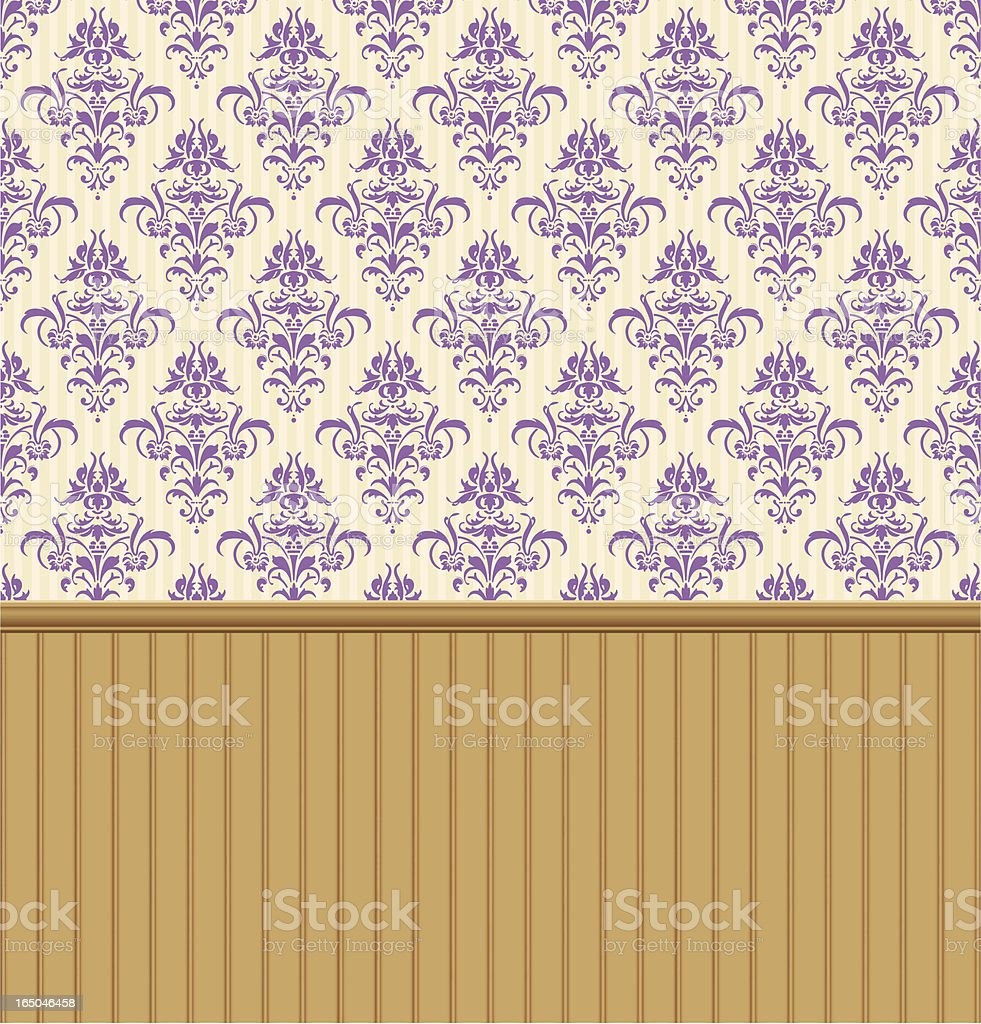 Antique Wainscoting And Wallpaper Stock Vector Art & More ...