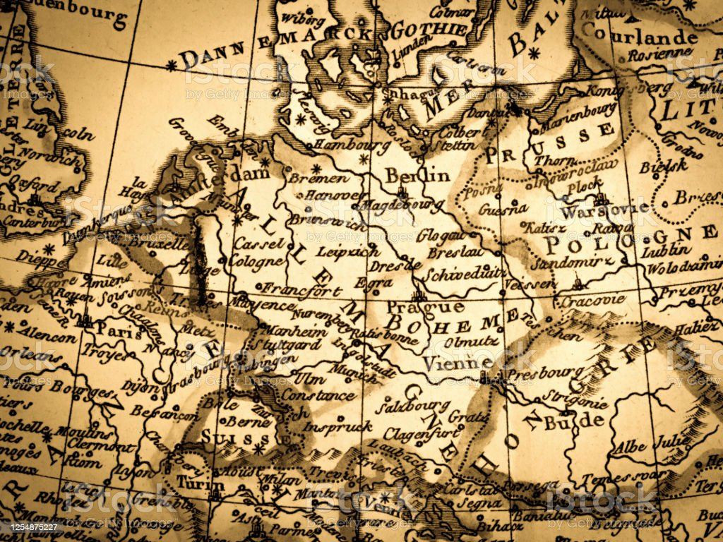 Antique World Map Germany Stock Illustration Download Image Now Istock