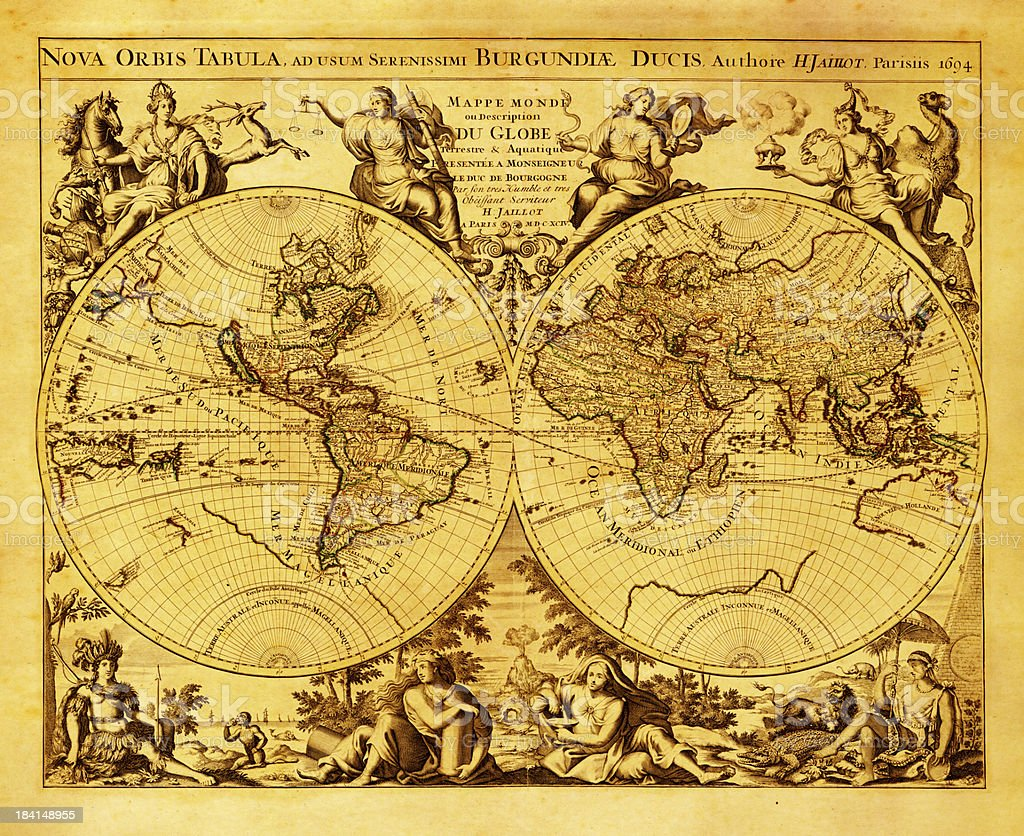 Antique world map stock vector art more images of ancient antique world map high resolution image royalty free antique world map stock vector gumiabroncs Images