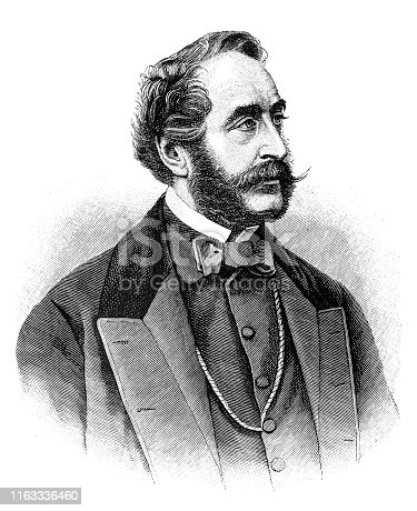 Illustration of a Antoine Alfred Agenor, 10th Duc de Gramont, Prince de Bidache (14 August 1819 – 17 January 1880) was a French diplomat and statesman