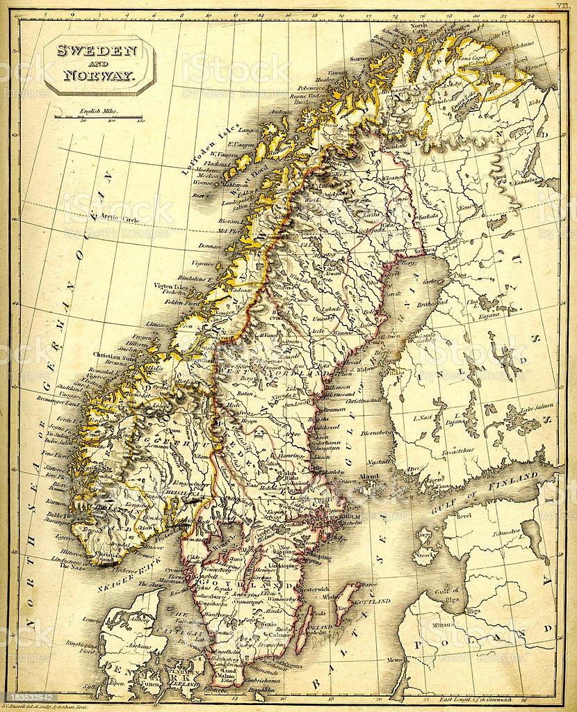 Norvegia Cartina Geografica