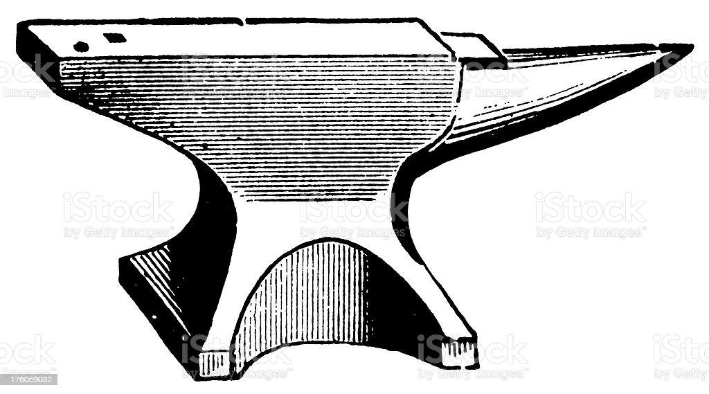 Anvil | Antique Design Illustrations vector art illustration