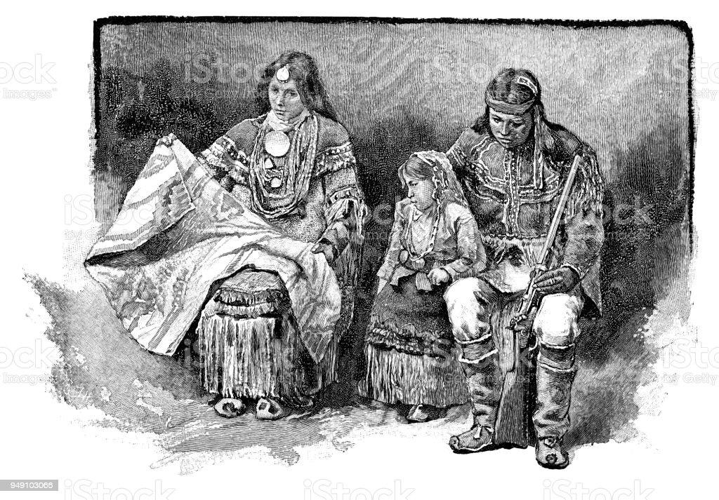 アパッチ族 - 19世紀のベクター...