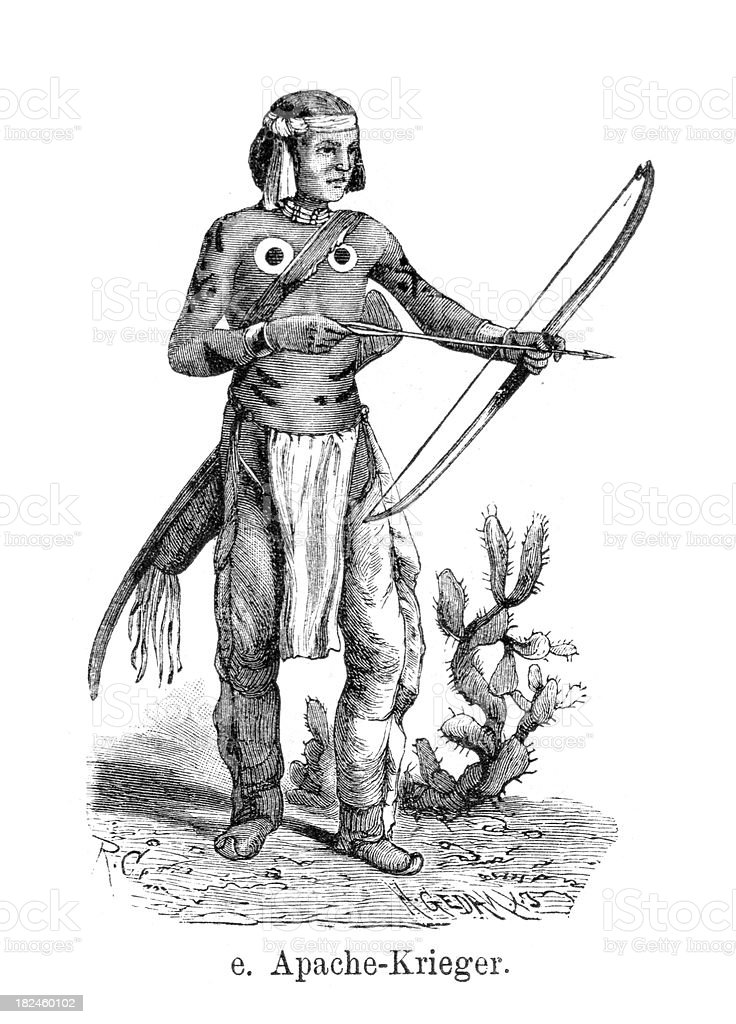 Apache guerrero ilustración de apache guerrero y más banco de imágenes de américa del norte libre de derechos