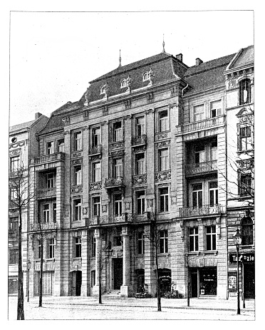 Illustration of apartment building located at Tauentzienstraße in Berlin