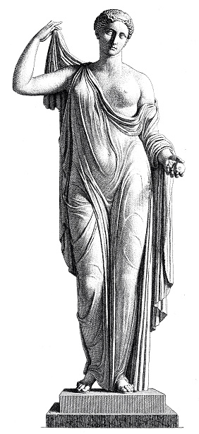 Aphrodite Greek Goddess Of Love Statue On White Background ...