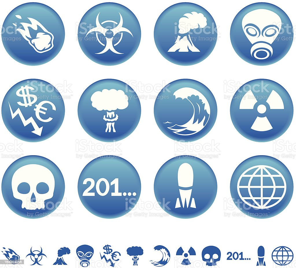 Apocalyptic icons royalty-free stock vector art