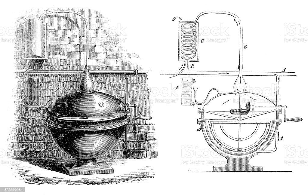 Aparato para destilación - ilustración de arte vectorial