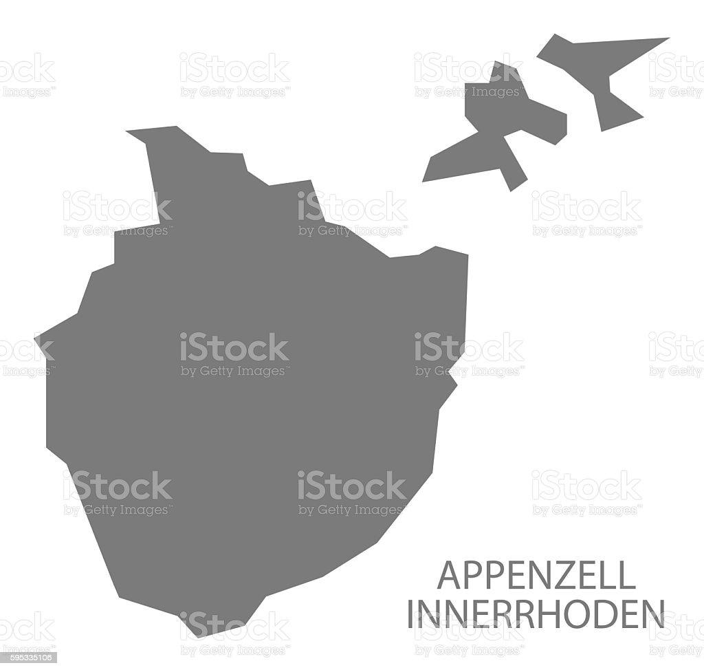 Appenzell Innerrhoden Switzerland Map Grey Stock Vector Art ...