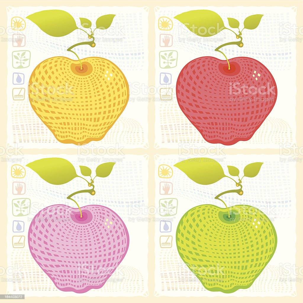 apple engraved royalty-free apple engraved stock vector art & more images of abstract